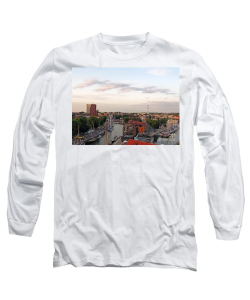 Old Town Klaipeda. Lithuania. Long Sleeve T-Shirt by Ausra Huntington nee Paulauskaite