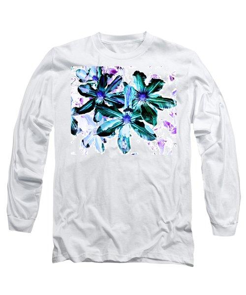 Organic Techno Flowers Long Sleeve T-Shirt by Lisa Brandel