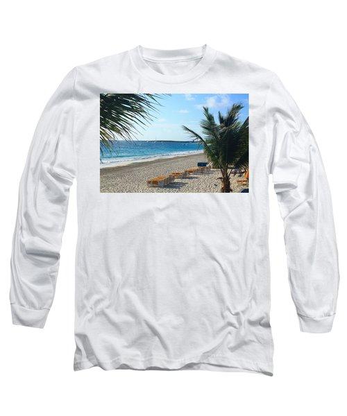 Long Sleeve T-Shirt featuring the photograph Orient Beach St Maarten by Catie Canetti
