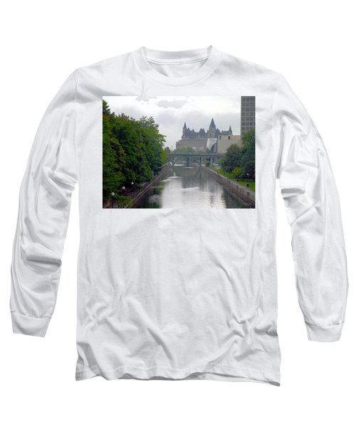 Ottawa Rideau Canal Long Sleeve T-Shirt by Valentino Visentini