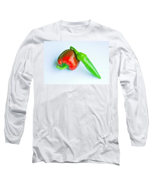 Long Sleeve T-Shirt featuring the photograph Peppers by Lisa Phillips
