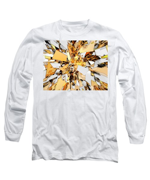 Long Sleeve T-Shirt featuring the digital art Pieces Of Gold by Phil Perkins