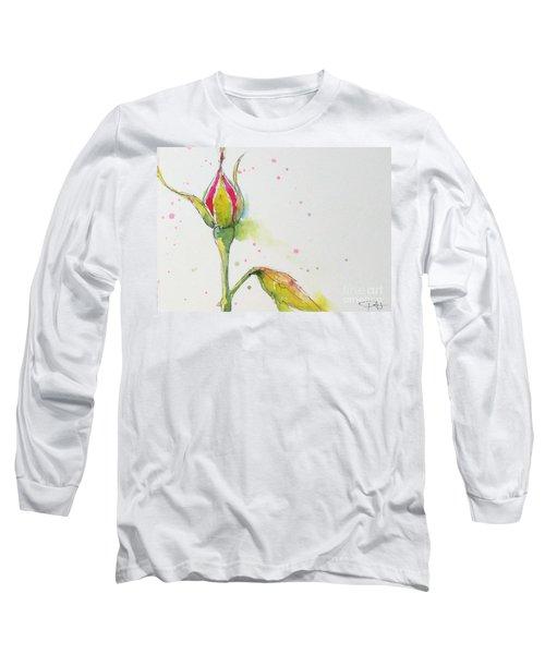 Pink Rosebud Long Sleeve T-Shirt
