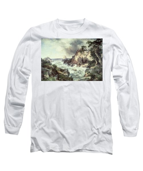 Point Lobos At Monterey In California Long Sleeve T-Shirt by Thomas Moran