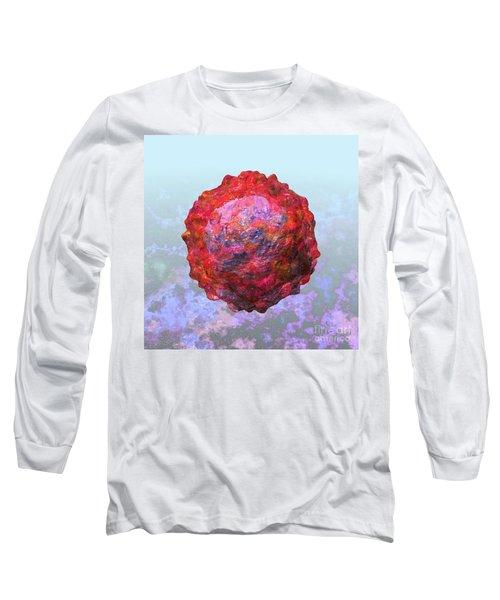 Polio Virus Particle Or Virion Poliovirus 2 Long Sleeve T-Shirt