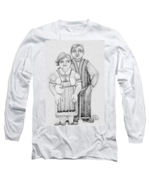 Polish Couple Long Sleeve T-Shirt by Rachel Hershkovitz