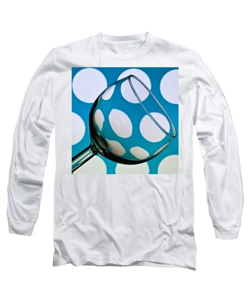 Long Sleeve T-Shirt featuring the photograph Polka Dot Glass by Steve Purnell
