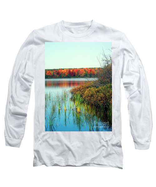 Pond In The Woods In Autumn Long Sleeve T-Shirt