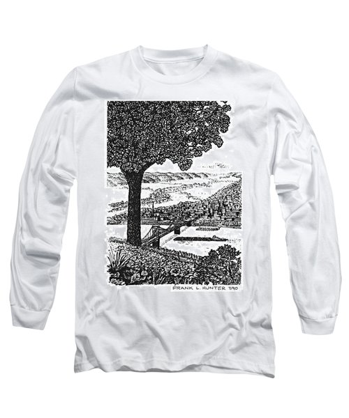 Portsmouth Ohio From A Kentucky Hill Long Sleeve T-Shirt by Frank Hunter