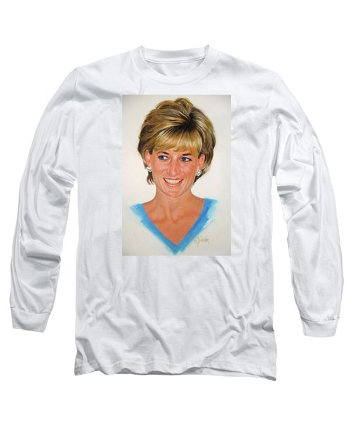 Long Sleeve T-Shirt featuring the painting Princess Diana by Cliff Spohn