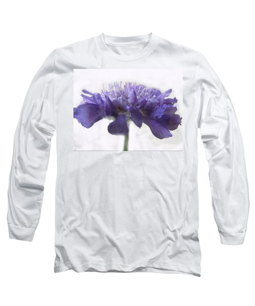 Long Sleeve T-Shirt featuring the photograph Purple Pincushin by Debbie Portwood