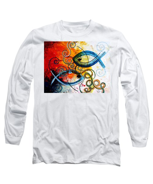 Purposeful Ichthus By Two Long Sleeve T-Shirt