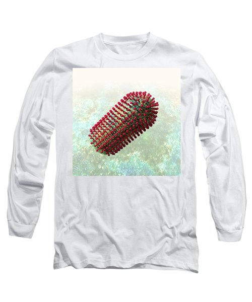 Rabies Virus 2 Long Sleeve T-Shirt by Russell Kightley