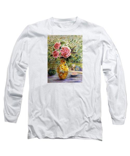 Rainy Afternoon Joy Long Sleeve T-Shirt by Dee Davis