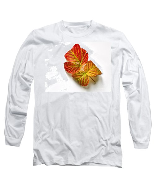 Long Sleeve T-Shirt featuring the photograph Raspberry Leaves In Autumn by Sean Griffin