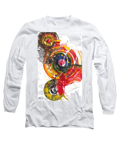 Red And Blue's Gold  837.120811 Long Sleeve T-Shirt by Kris Haas