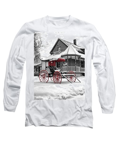 Red Buggy At Olmsted Falls - 2 Long Sleeve T-Shirt