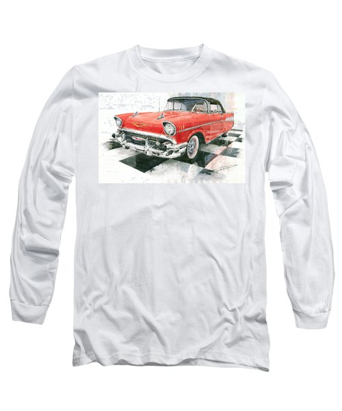 Red Chevrolet 1957 Long Sleeve T-Shirt