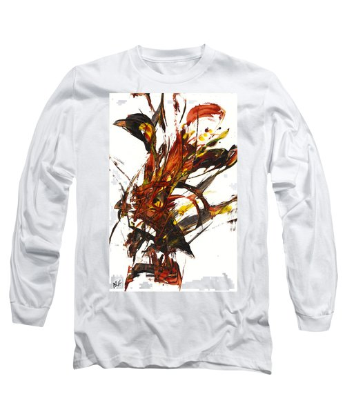 Red Flame II 65.121410 Long Sleeve T-Shirt by Kris Haas
