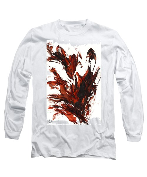 Red Flame IIi 64.121410 Long Sleeve T-Shirt by Kris Haas