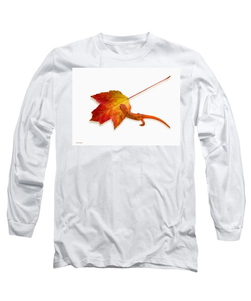 Red Spotted Newt Long Sleeve T-Shirt by Ron Jones