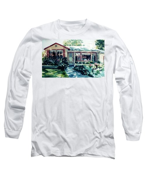 Long Sleeve T-Shirt featuring the painting Redwood City House #2 by Donald Maier