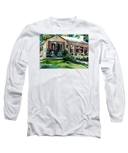 Long Sleeve T-Shirt featuring the painting Redwood City House #3 by Donald Maier