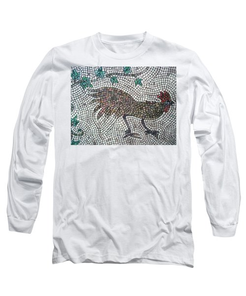 Long Sleeve T-Shirt featuring the painting Rooster Run by Cynthia Amaral