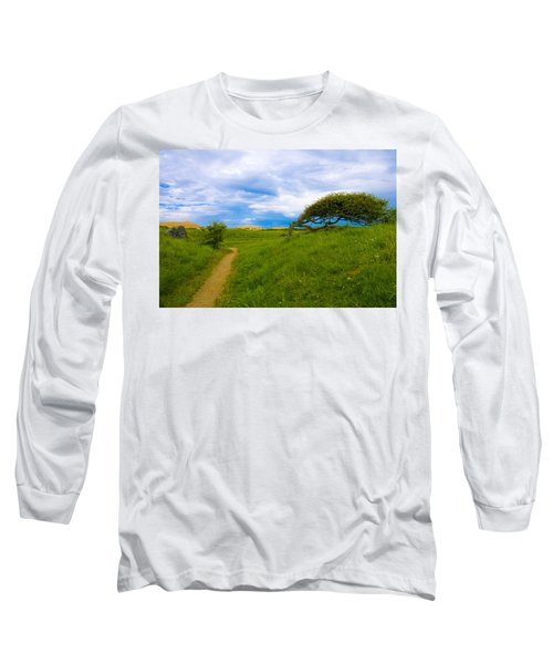 Rubjerg Path Long Sleeve T-Shirt by Mike Santis