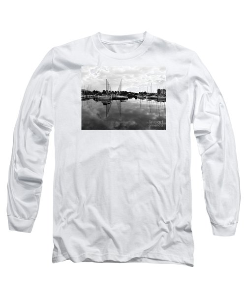 Sailboats At Bluffers Marina Toronto Long Sleeve T-Shirt by Susan  Dimitrakopoulos