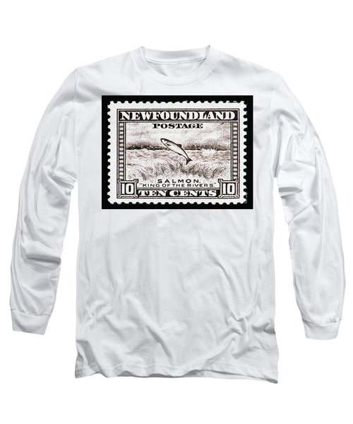 Salmon King Of The Rivers Long Sleeve T-Shirt by Andy Prendy