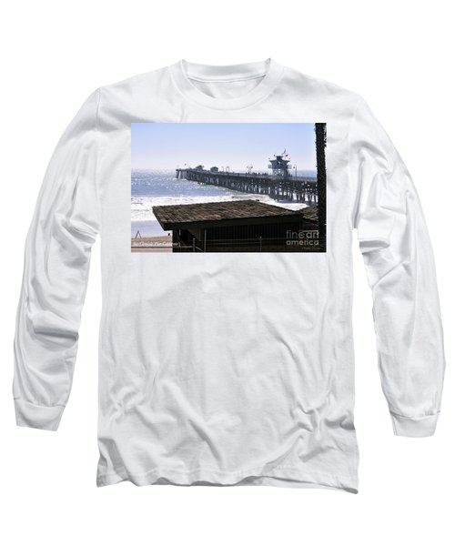 San Clemente Pier California Long Sleeve T-Shirt by Clayton Bruster
