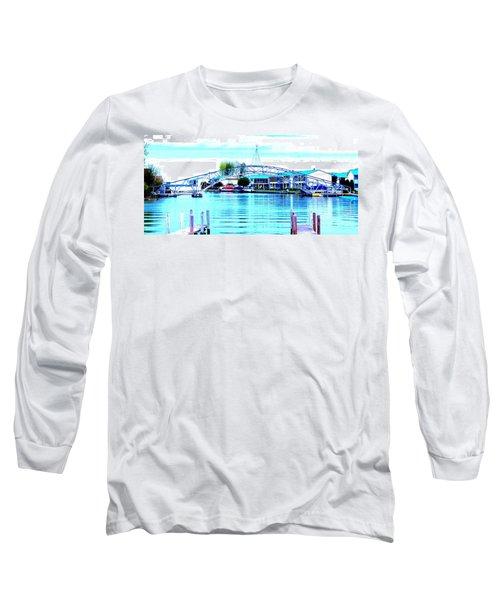 Sandy Beach Bridge Long Sleeve T-Shirt by Lisa Brandel