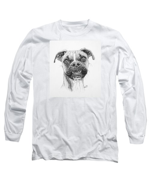Long Sleeve T-Shirt featuring the drawing Scout by Mike Ivey