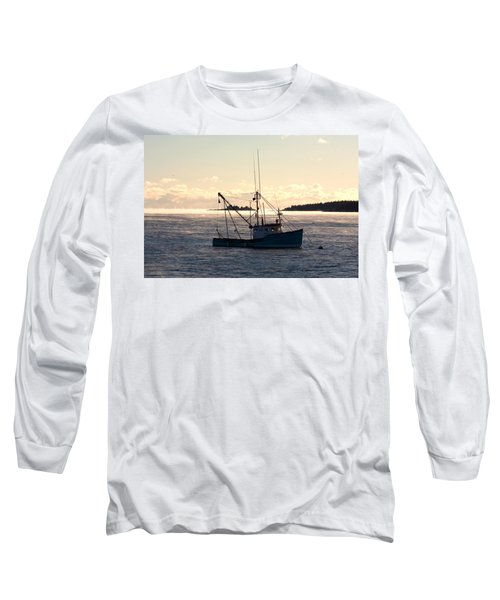 Sea-smoke On The Harbor Long Sleeve T-Shirt by Brent L Ander