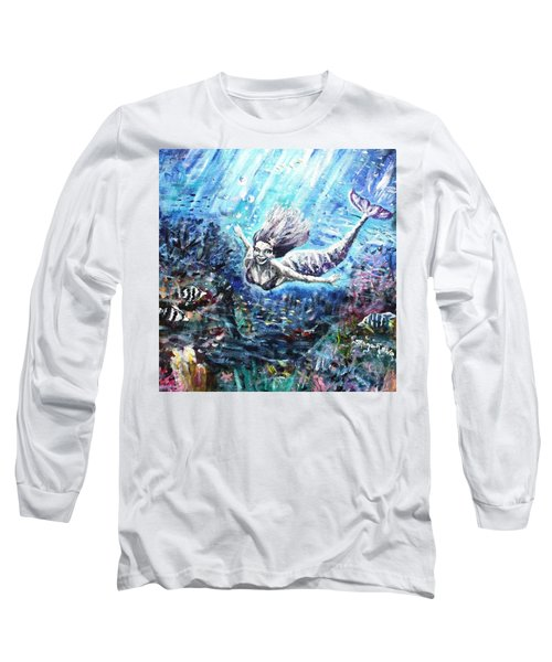 Long Sleeve T-Shirt featuring the painting Sea Surrender by Shana Rowe Jackson