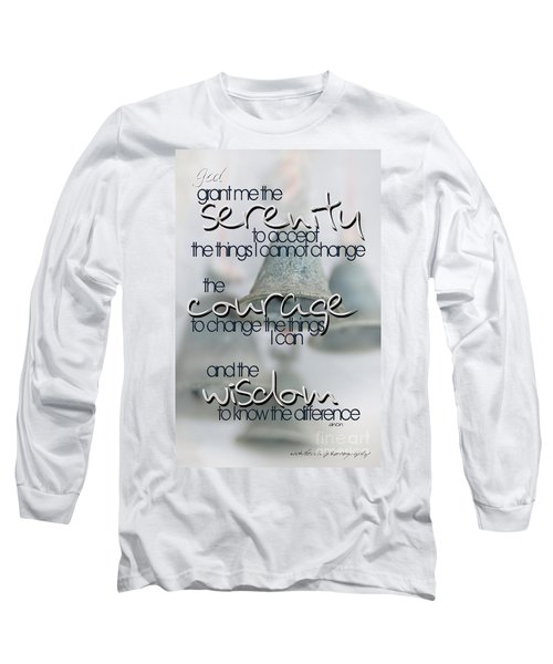 Long Sleeve T-Shirt featuring the photograph Serenity Prayer With Bells by Vicki Ferrari