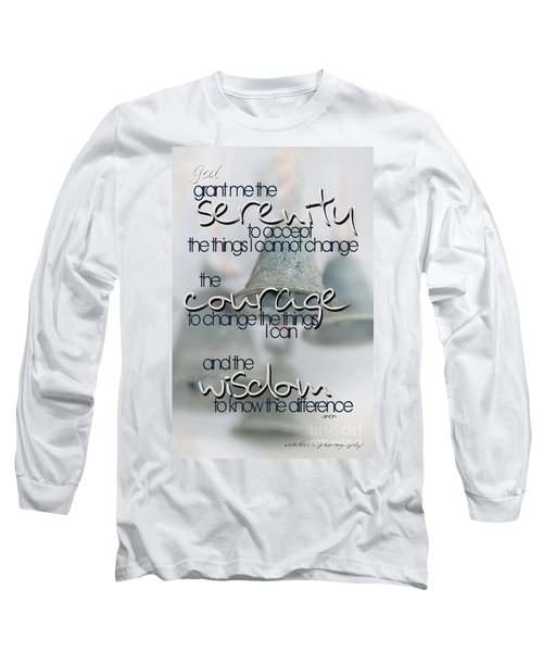 Serenity Prayer With Bells Long Sleeve T-Shirt