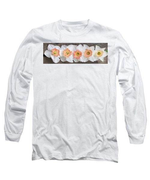 Shades Of Pink Long Sleeve T-Shirt by Michele Penner