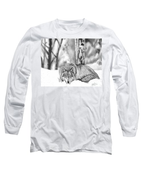 Sleeping In The Snow Long Sleeve T-Shirt