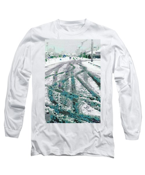 Long Sleeve T-Shirt featuring the photograph Slipping And Sliding  by Steve Taylor