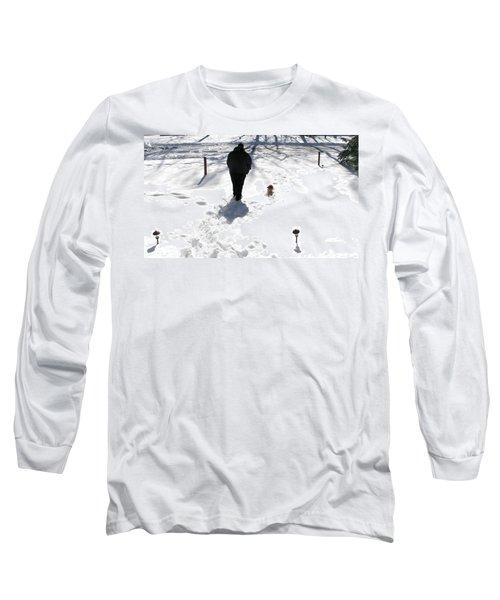 Long Sleeve T-Shirt featuring the photograph Snow Buddies by Pamela Hyde Wilson