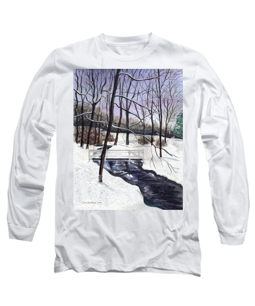 Snowy Shawnee Stream Long Sleeve T-Shirt