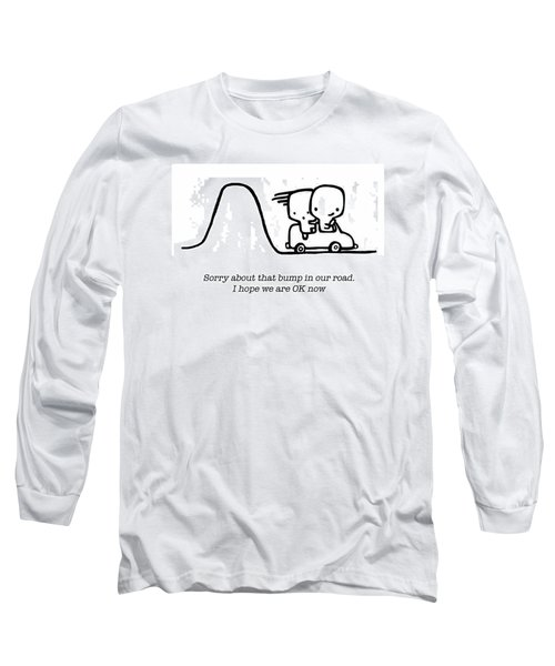 Long Sleeve T-Shirt featuring the drawing Sorry by Leanne Wilkes
