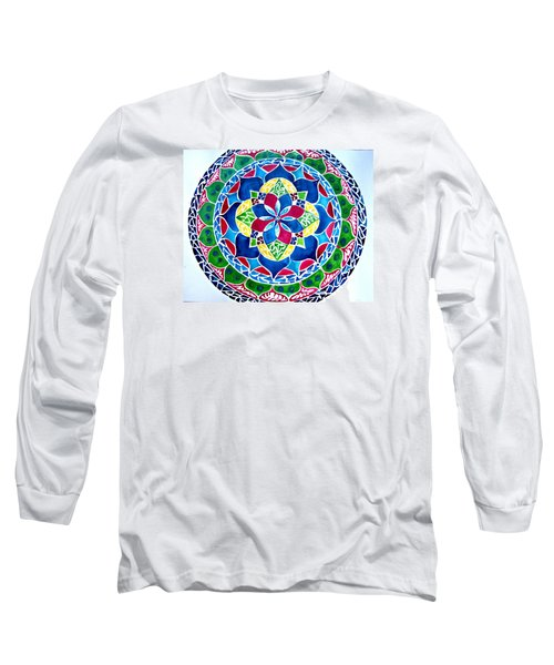 Spring Mandala Long Sleeve T-Shirt by Sandra Lira