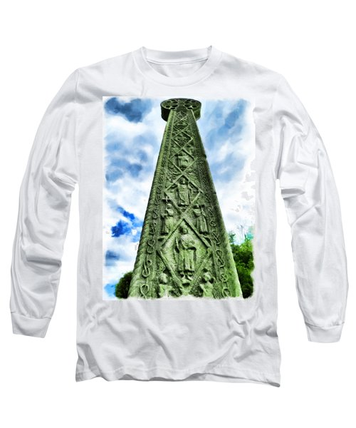 Long Sleeve T-Shirt featuring the photograph St Augustines Cross Close Up by Steve Taylor