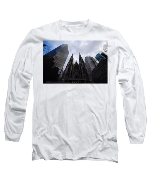 Long Sleeve T-Shirt featuring the photograph Steeples by John Schneider