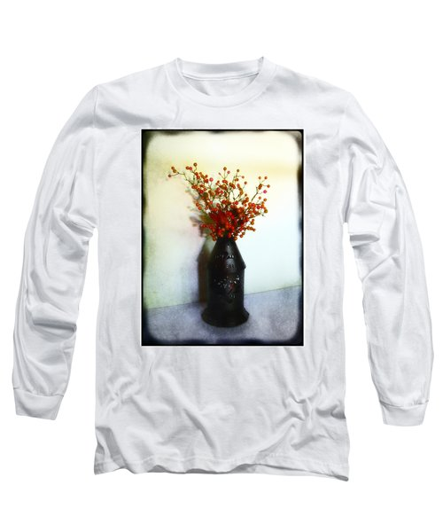 Still Life With Berries Long Sleeve T-Shirt by Judi Bagwell