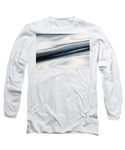 Streak Of Blue Long Sleeve T-Shirt by Cathie Douglas