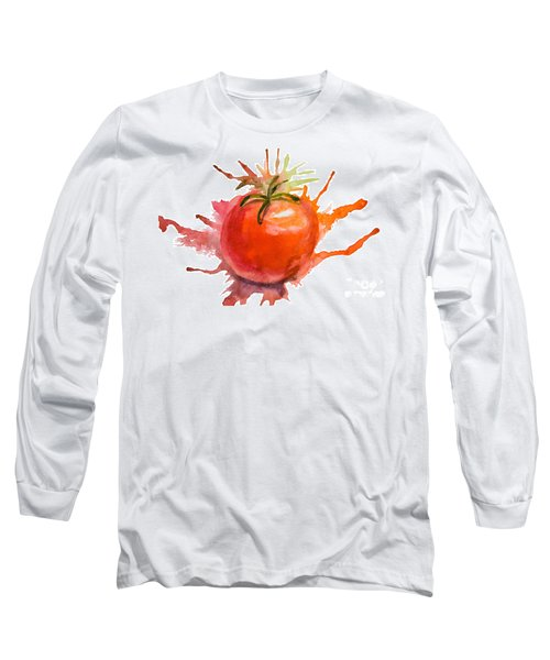 Stylized Illustration Of Tomato Long Sleeve T-Shirt
